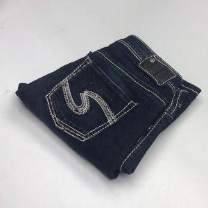 Womens Silver Jeans Capri Sz 29x25